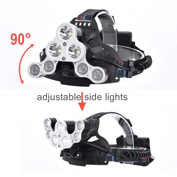 7 LED Adjustable Head Lamp - Rechargeable