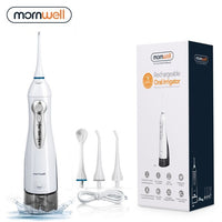 Mornwell Rechargeable Water Flosser With High Capacity Water Tank & 4 Nozzles