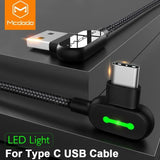 McDodo 90 Degree Charging Cable (Micro USB/USB C/Lightning)