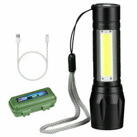 Mini COB LED Zoomable Torch