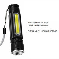 Mini COB LED Torch USB Charge with Magnet