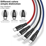 McDodo 4 in 1 Lightning Mirco USB Type-C Fast Charging Cable For iPhone Samsung