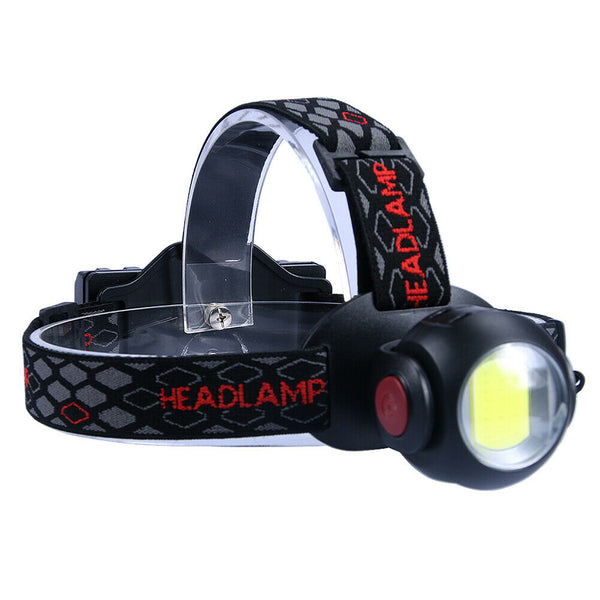 T6 CREE and COB Adjustable Head Lamp - Rechargeable