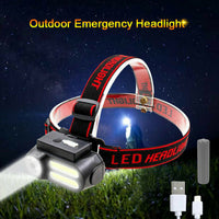 2 COB and XPE LED Head Lamp - Rechargeable
