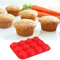 12 Cup Muffin Silicone Mould