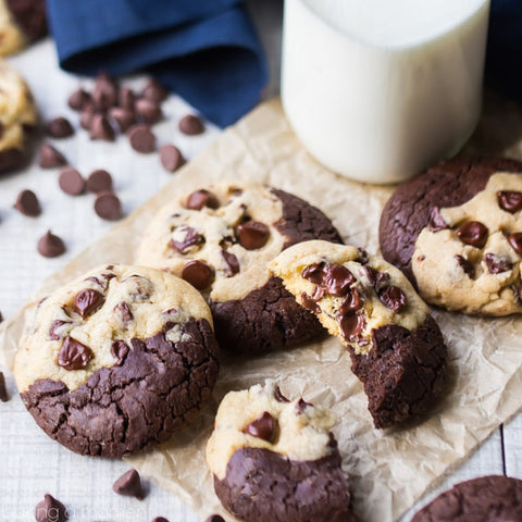 crumpled parchment paper cookies
