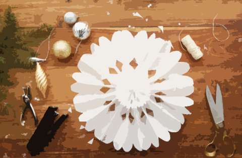 parchment paper holiday craft ideas 2
