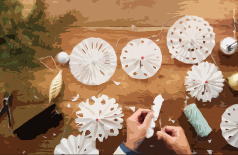 parchment paper holiday craft ideas
