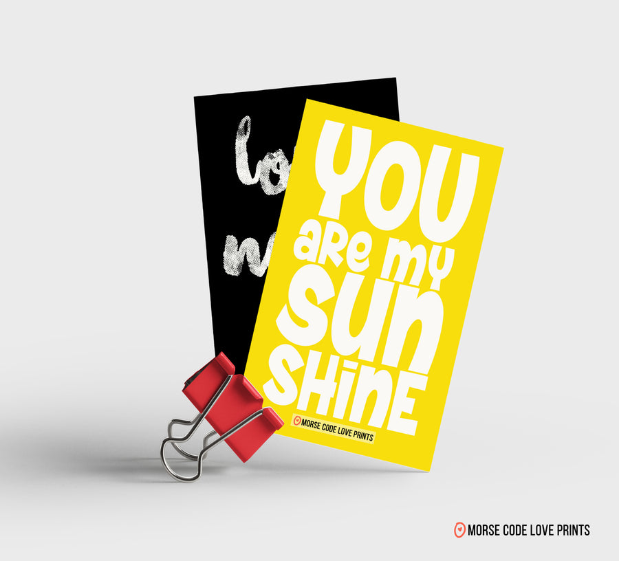 You Are My Sunshine Magnet - Morse Code Love Prints