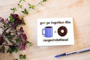 Coffee + Donuts Card - Morse Code Love Prints