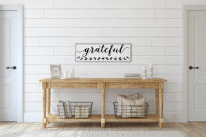 Grateful (12x36) Wooden Sign - William Rae Designs