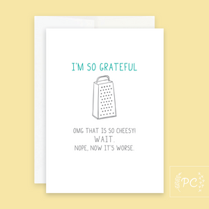 I'm So Grateful Card - Prairie Chick Prints
