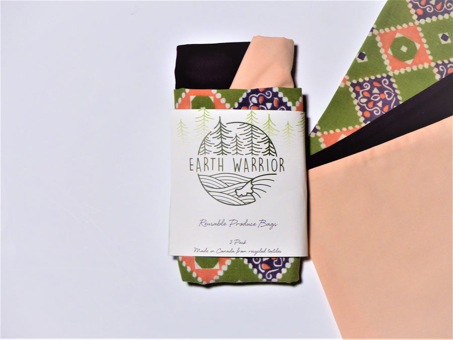Purple 3pk Reusable Produce Bags - Earth Warrior Lifestyle