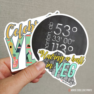 Lat & Long Sticker - Morse Code Love Prints