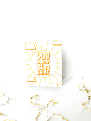 You Are My Sunshine Card + Sticker - Morse Code Love Prints