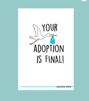 Adoption is Final Card - House of Many Design