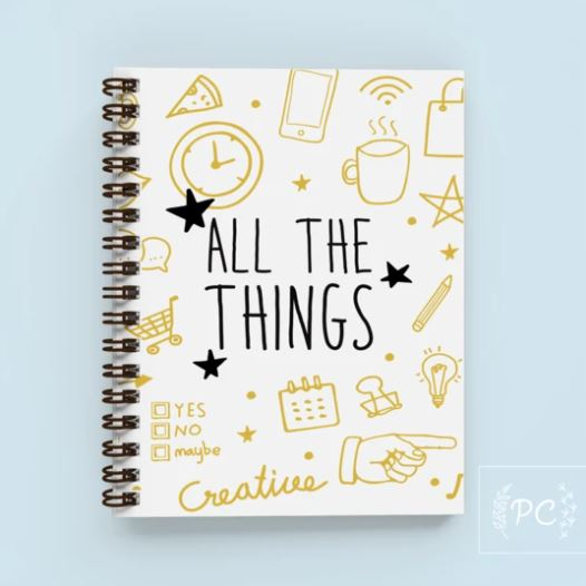 All The Things Notebook - Prairie Chick Prints