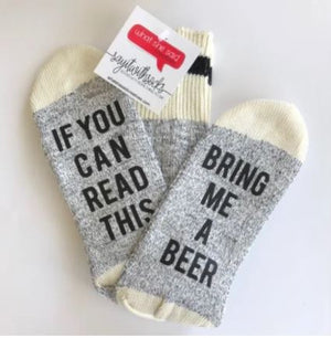 Bring Me A Beer Socks - What She Said Creatives