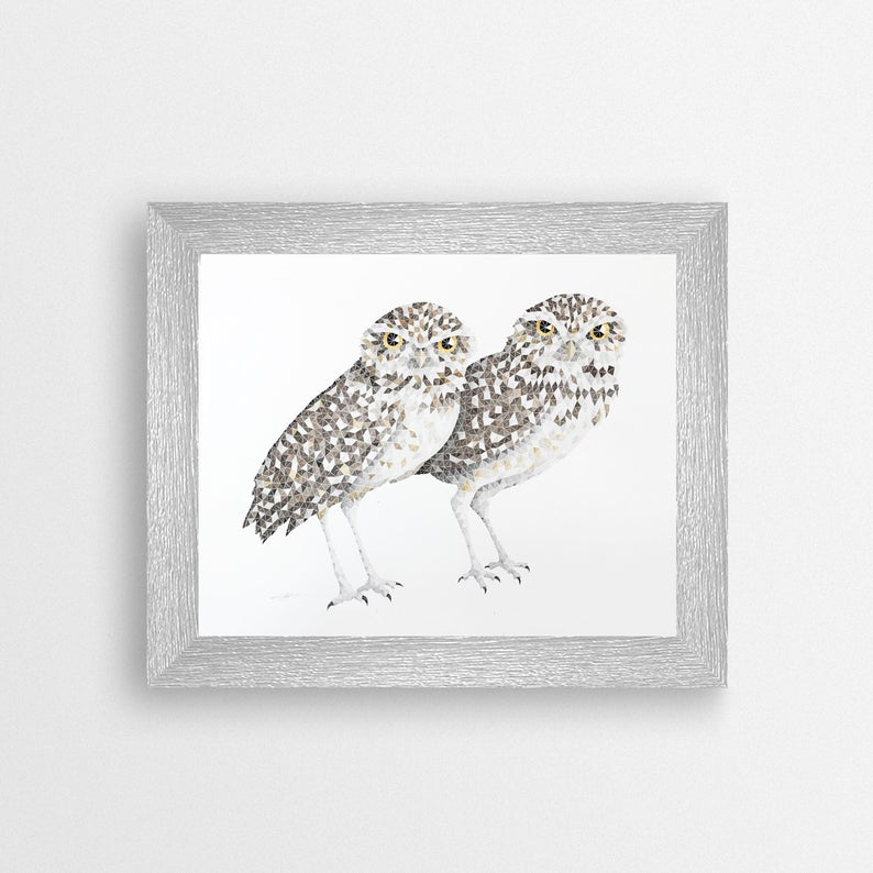 Burrowing Owl (8x10) Print - LND Art