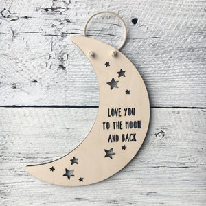 Love You To The Moon And Back - Etch'd Designs