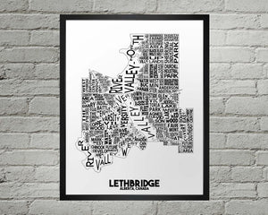 Lethbridge Map - Damon D Chan Map Designs