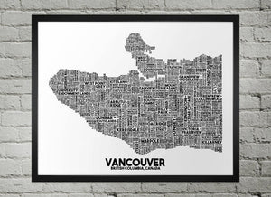 Vancouver Map - Damon D Chan Map Designs