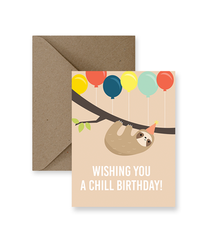 Wishing You A Chill Birthday Card  - IM Paper