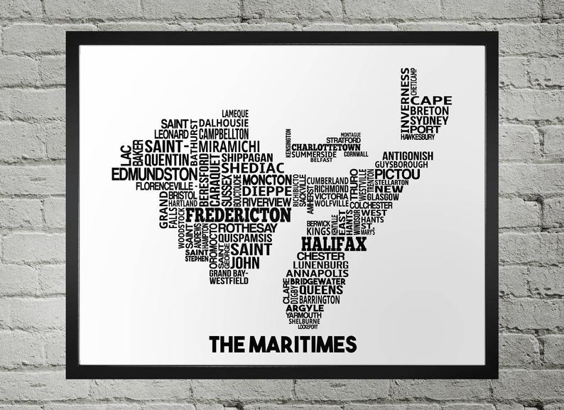 Maritimes Map - Damon D Chan Map Designs