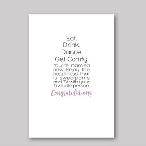 Eat Drink Dance Card - What She Said Creatives