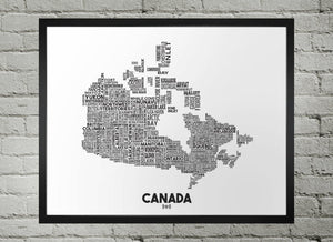Canada Map - Damon D Chan Map Designs