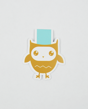 Owl  - Magnetic Bookmark - IM Paper