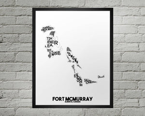 Fort McMurray Map - Damon D Chan Map Designs