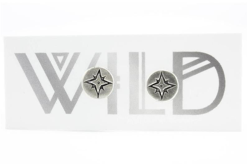 Mini Compass Rose Studs - Mackenzie Jones