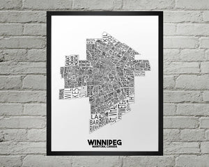 Winnipeg Map - Damon D Chan Map Designs