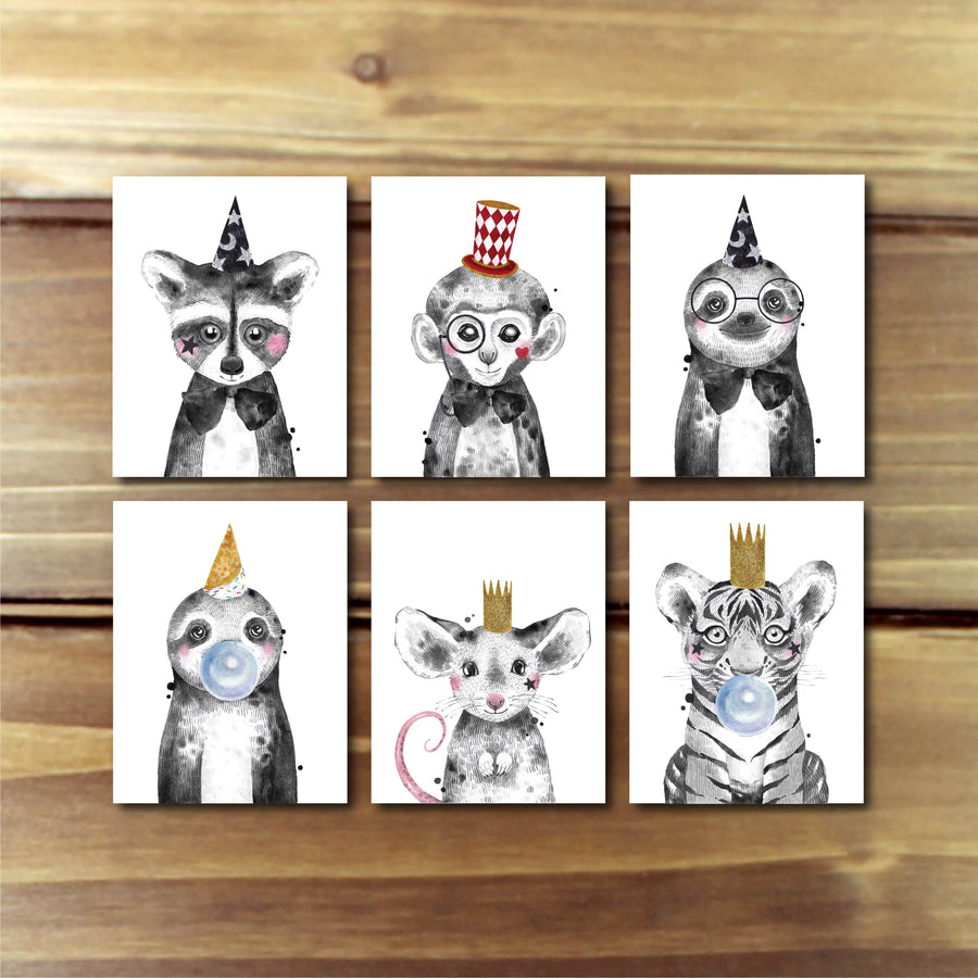Animal Party Card PK- Hoot Events