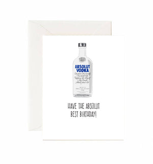 Absolut Best Birthday Card - Jaybee Design
