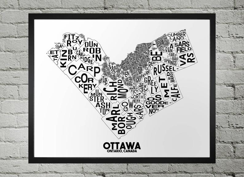 Ottawa Map - Damon D Chan Map Designs