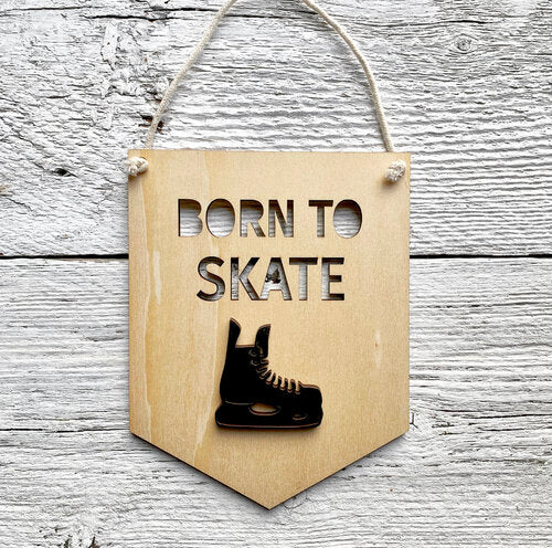 Born To Skate 3D Wall Flags - Etch'd Designs