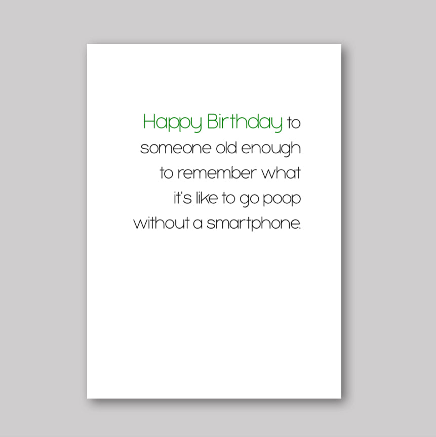 Old Enough Card - What She Said Creatives