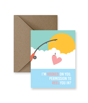 I'm Hooked On You Permission To Reel You In? Card  - IM Paper