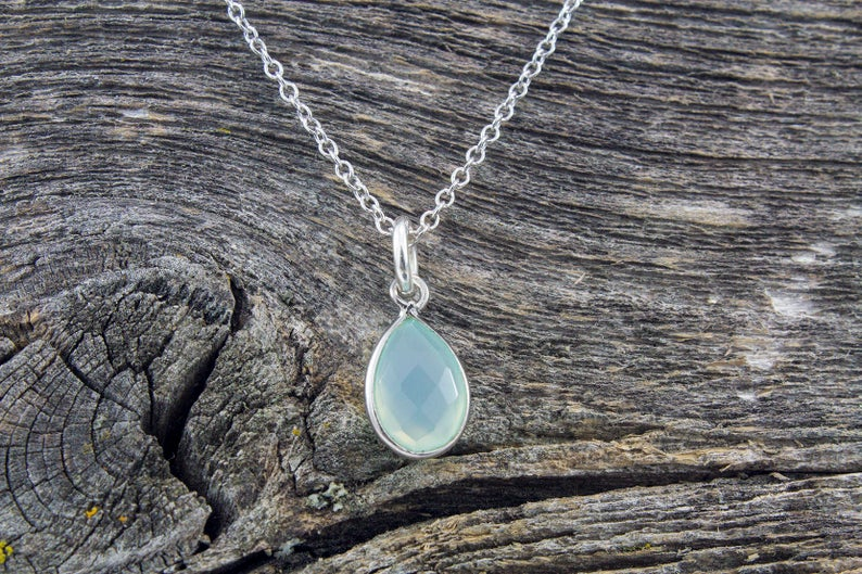 Amazonite Stone Necklace - Mackenzie Jones