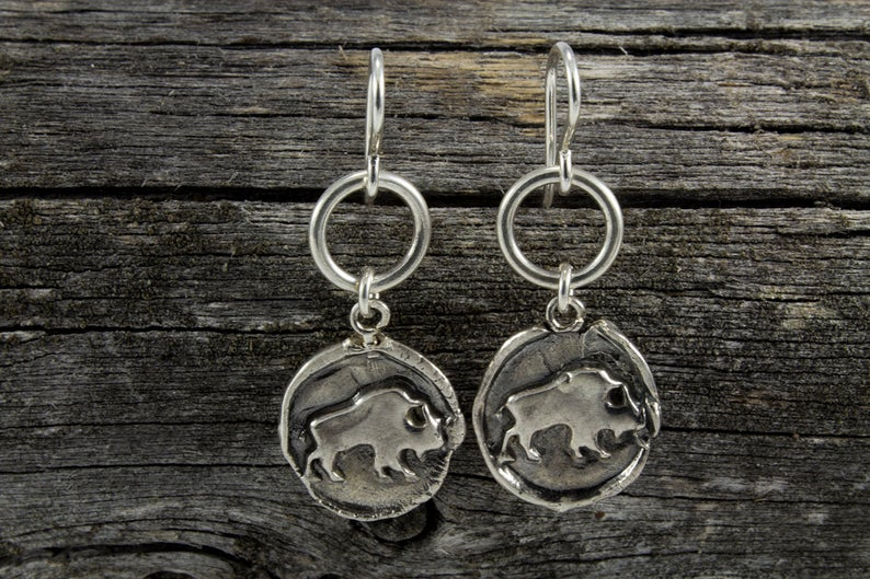 Buffalo Totem Earrings - Mackenzie Jones