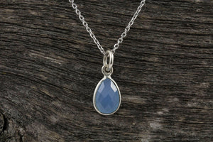 Blue Topaz Stone Necklace - Mackenzie Jones