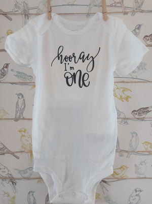 Hooray I'm One Onesie - All Decked Out Events