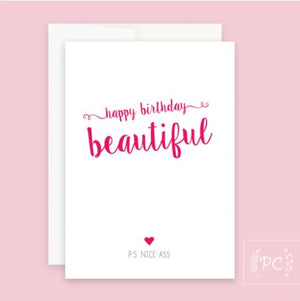 Happy Birthday Beautiful Card - Prairie Chick Prints