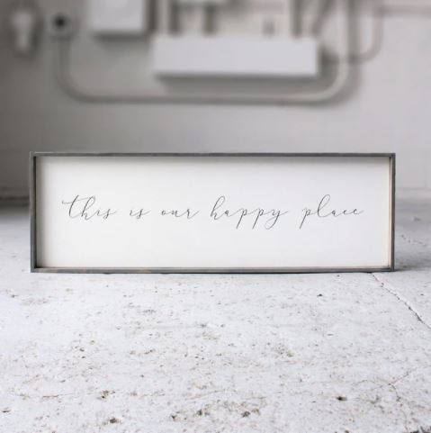 This Is Our Happy Place (12x36) Wooden Sign - William Rae Designs