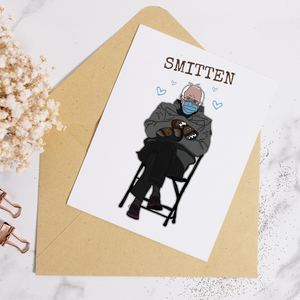 Bernie Smitten Card - Hoot Events