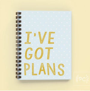 I've Got Plans Notebook - Prairie Chick Prints