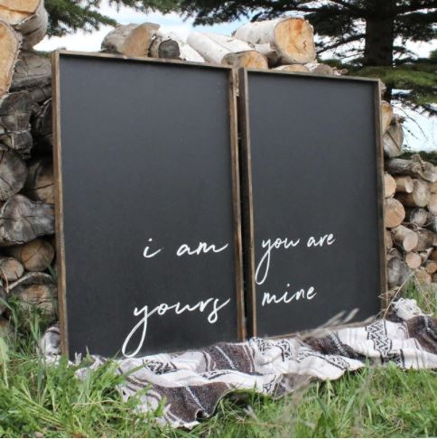 I Am Yours You Are Mine (24x36) Wooden Sign - William Rae Designs