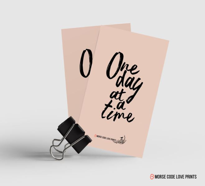 One Day At A Time Magnet - Morse Code Love Prints
